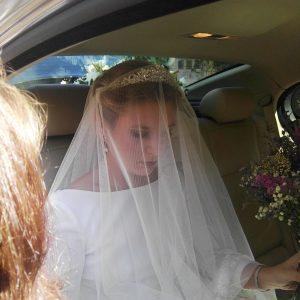 Diseño de Peinado con velo para novia